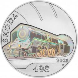 Parní lokomotiva Škoda 498...