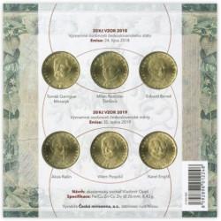 Sada oběžných mincí 20,-Kč...